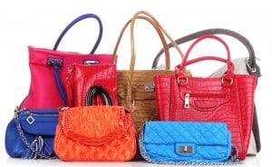 farbenfrohe Taschen