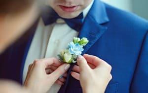 Hochzeitsanzug als Blickfang